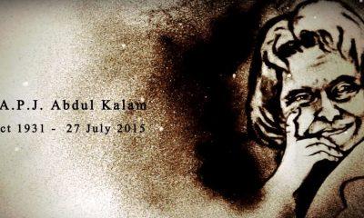 Sandart tribute on 1st Death Anniversary of Dr. APJ Abdul Kalam