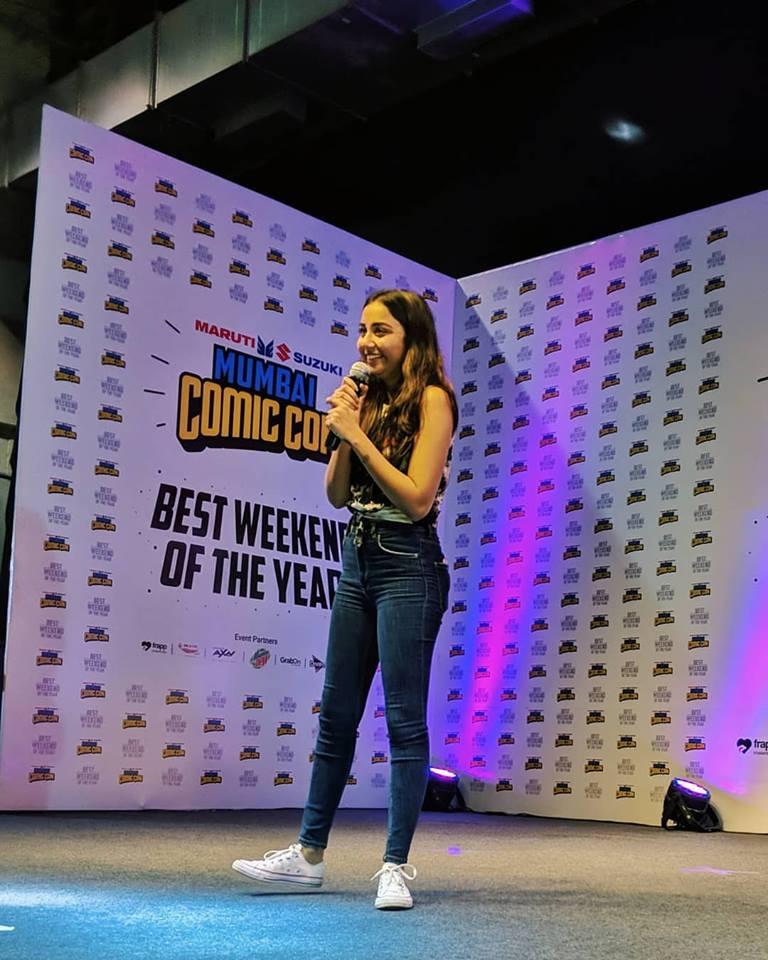 Prajakta Koli at Comic Con 2017